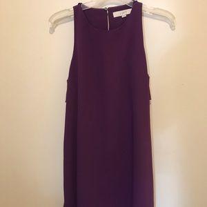 Loft purple tank dress